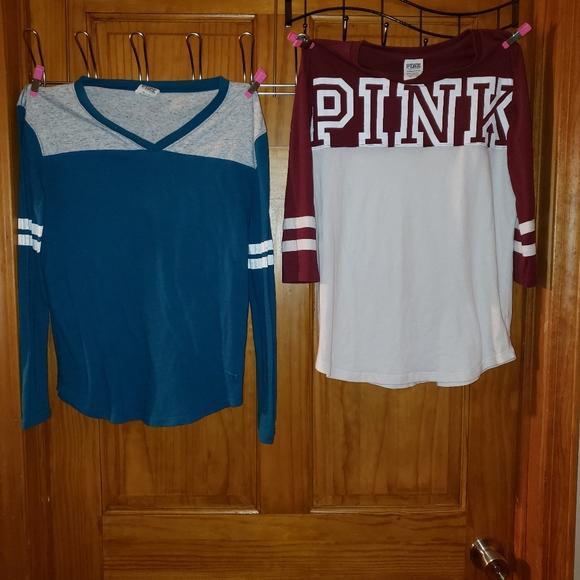 PINK Victoria's Secret Tops - 4 Victoria secrets pink shirts